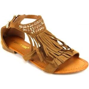 Sandale cuir Franges - Cendriyon