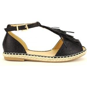 Sandale Noire écaillées ESPAGATA - Cendriyon