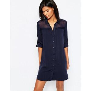 Only - Robe chemise - Bleu marine
