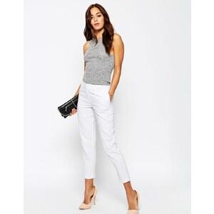 ASOS - Pantalon fuselé en lin - Blanc