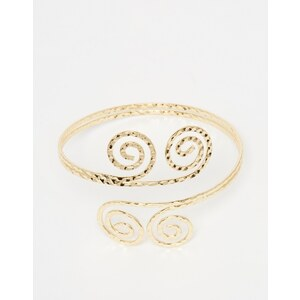 ASOS - Bracelet de bras motif spirale - Doré