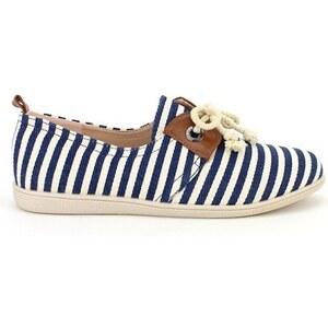 Basket Rayure Blue and White - Cendriyon