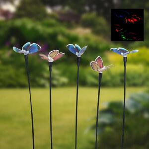 Lesara Lot de 5 lampes solaires en forme de papillon