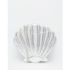 Skinnydip - Mermaid - Silberne Umhängetasche in Muschelform - Silber
