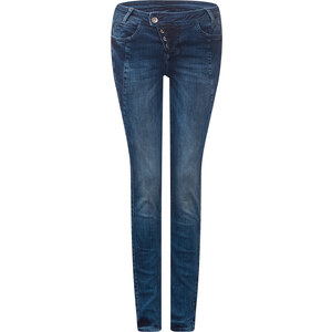 Street One - Jean étroit taille basse Rona - Mid Blue Wash Flash