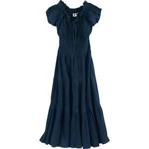John Baner JEANSWEAR Kleid/Sommerkleid kurzer Arm in blau (Rundhals) von bonprix