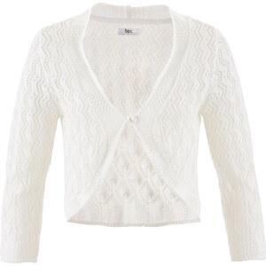 bpc bonprix collection Häkel-Bolero, 3/4 Arm in weiß für Damen von bonprix