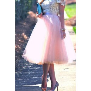 TopVintage Boutique Collection 50s Jocelyn Fairytale Skirt in Pink