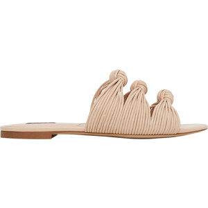 MANGO Flache Sandale Mit Knoten