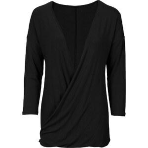 RAINBOW T-shirt noir manches mi-longues femme - bonprix