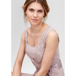 S.OLIVER PREMIUM Damen PREMIUM Kleid mit Spitze im Layer-Look braun L (44),L (46),M (40),M (42),S (36),S (38),XS (34)