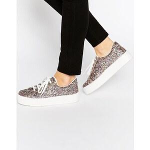 ASOS - DAY TRIP - Flatform-Sneakers - Glitzer
