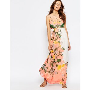 Vila - Robe longue à fleurs - Multi
