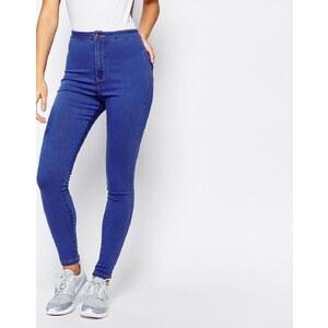 Missguided - Vice - Jean skinny taille haute super stretch - Bleu