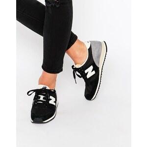 New Balance - 420 - Baskets en daim - Noir - Noir