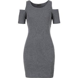 RAINBOW Shirtkleid mit Cut-outs/Sommerkleid kurzer Arm in grau von bonprix