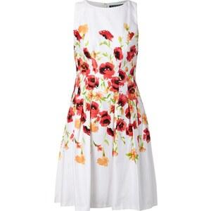 Lauren Ralph Lauren Kleid mit floralem Muster und gelegten Falten