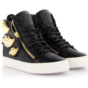 Giuseppe Zanotti Damen High Top Sneakers Cruel Leder schwarz