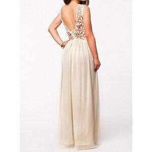 sammydress Hollow Out Design Sleeveless Round Collar Backless Maxi Dress For Women