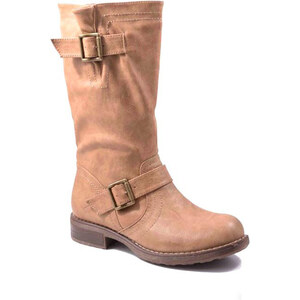 Lesara Stiefel mit Schnallen - Khaki - 36