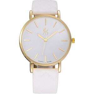 Lesara Armbanduhr mit Band in Leder-Optik - Weiß