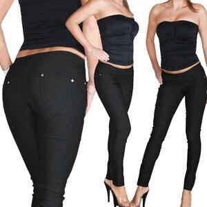 Lesara Treggings mit Taschen - Schwarz - XS