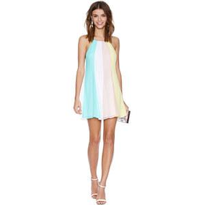 Lesara Kurzkleid im rückenfreien Design - Mehrfarbig - M