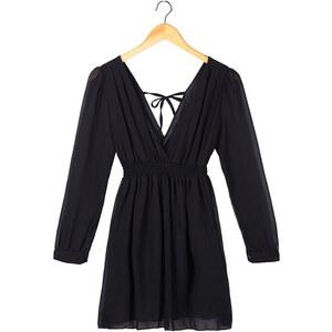 Lesara Damen-Kleid mit V-Ausschnitt - Schwarz - M
