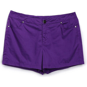 Lesara Jeans-Shorts - Flieder - S