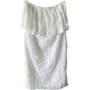 Lesara Bandeau-Kleid aus Spitze - Weiß - M