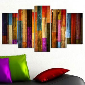 Lesara 5-teiliges Wandbild Kunst - Moderne Kunst vertikal