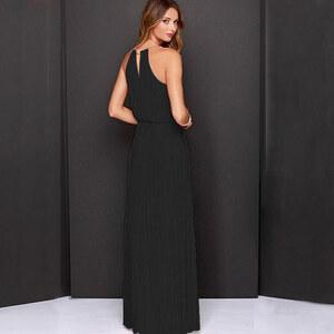 Lesara Langes Abendkleid - Schwarz - L