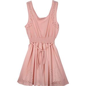 Lesara Kleid mit Loch-Details - Rosé - S