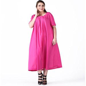 Lesara Maxikleid mit Umschlagärmel - Pink - XL