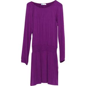Lesara Kurzes Kleid mit Taillenbund - Violett - S