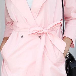 Lesara Leichter Trenchcoat - Rosé - S