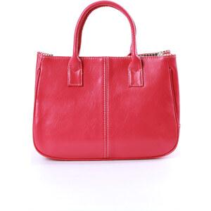 Lesara Handtasche in Used-Leder-Optik - Rot