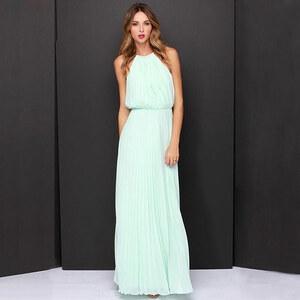 Lesara Maxi-Abendkleid mit Ketten-Träger - Mint - S