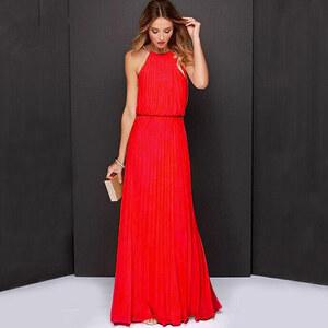 Lesara Maxi-Abendkleid mit Ketten-Träger - Rot - S