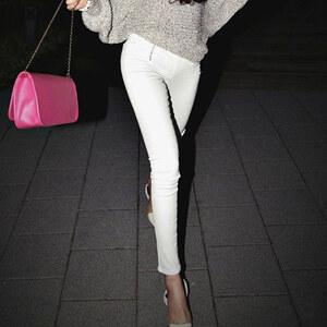 Lesara Skinny-Hose mit Reißverschlüssen - Weiß - S