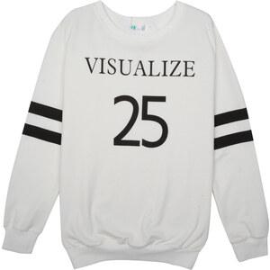 Lesara Sweater mit Nummern-Print - Weiß - M