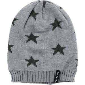 Lesara Strick-Mütze mit Sternen-Muster - Grau