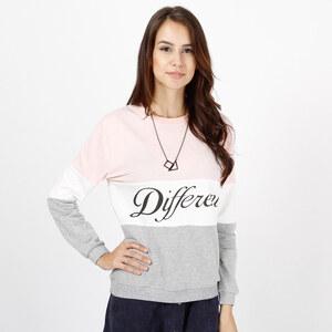 Lesara Sweater mit Different-Print - Rosa - XL