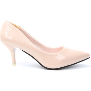 Lesara Pumps in Lack-Optik - Beige - 35