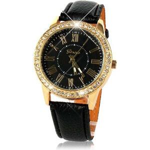 Lesara Klassische Armbanduhr mit römischen Ziffern - Schwarz