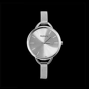 Lesara Armbanduhr mit großem Gehäuse - Silber