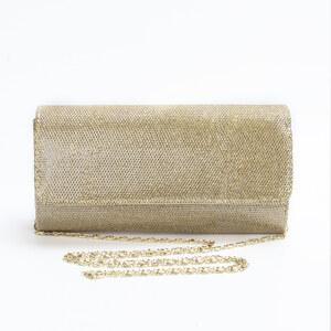 Lesara Clutch mit Umschlagklappe - Gold