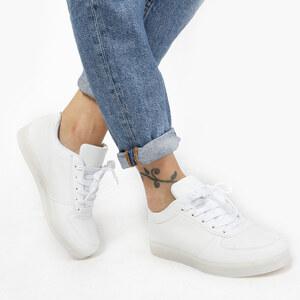 Lesara LED-Schuh in Leder-Optik - Weiß - 35