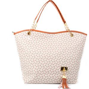 Lesara Handtasche in Trapezform - Beige