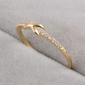 Lesara Ring mit Unendlichkeitssymbol und Strass - Gold - 52